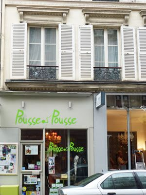 "Pousse Pousse ""Sprout Sprout"" restaurant in Paris for organic vegan food and green juice cocktails."