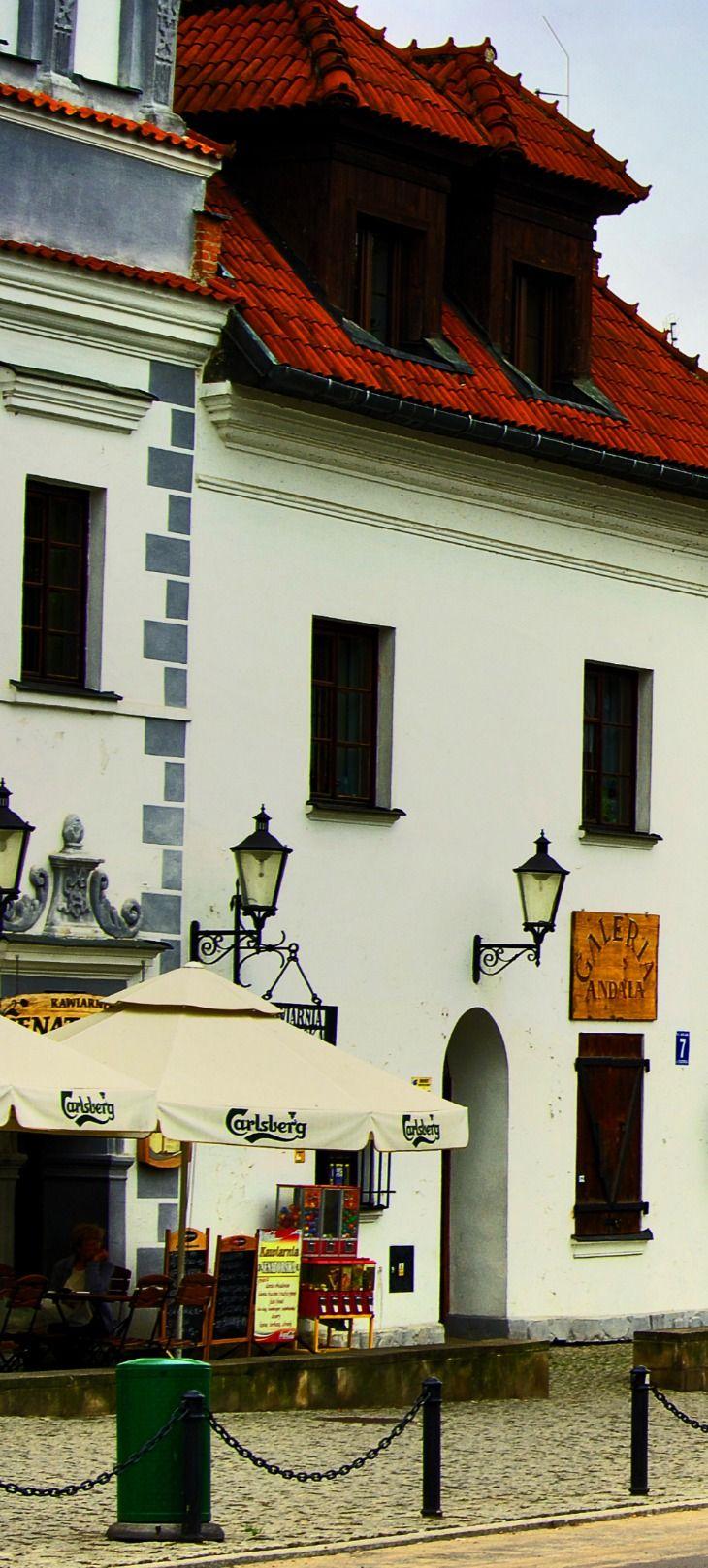 White Buildings in Kazimierz Dolny, Lublin, Poland