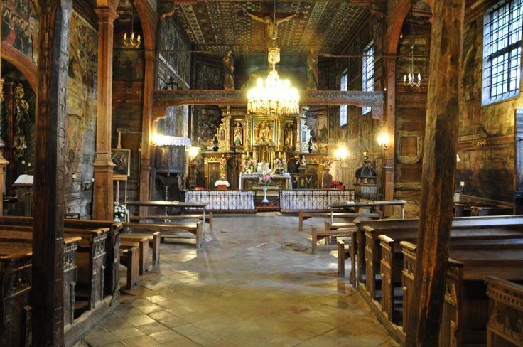 Binarowa, wnętrze kościoła św. Michała Arch.