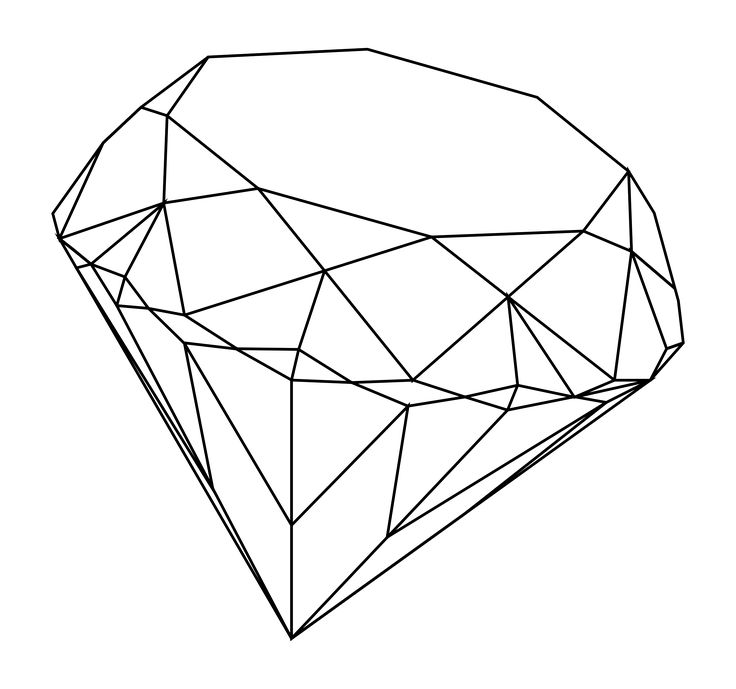 Xfig Line Drawing : Diamond line drawing google search pinterest