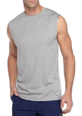 Sb Tech Men's Sleeveless Space-Dye Muscle Shirt - Cool Grey
