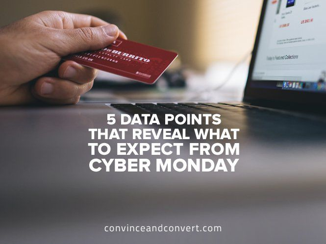 5 Data Points That Reveal What to Expect from Cyber Monday #digitalmarketing