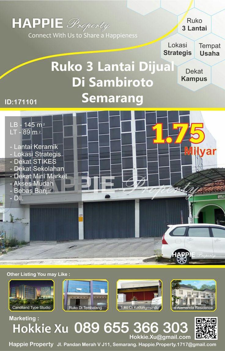 Ruko 3 Lantai Dijual Di Sambiroto Semarang