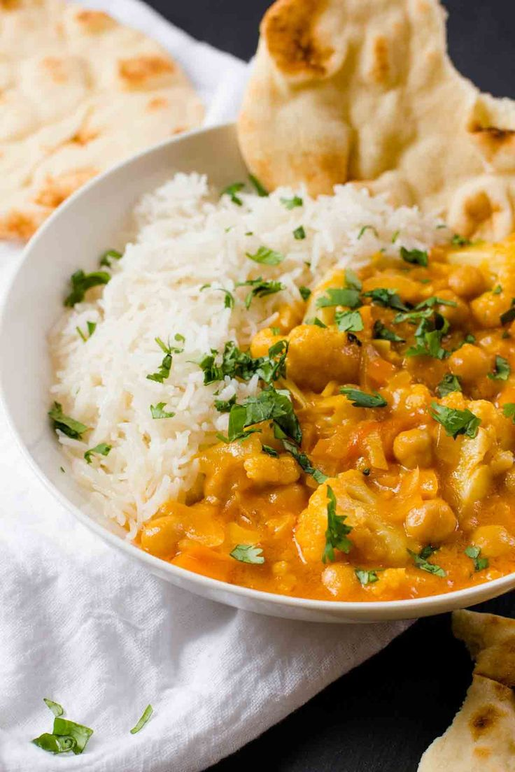 Cauliflower and Chickpea Curry- used chicken instead of beans.