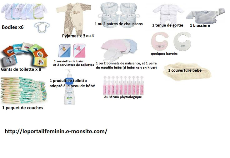 la valise de maternité : le nécessaire à emporter pour bébé http://leportailfeminin.e-monsite.com/pages/le-portail-des-futures-mamans/la-valise-de-maternite/