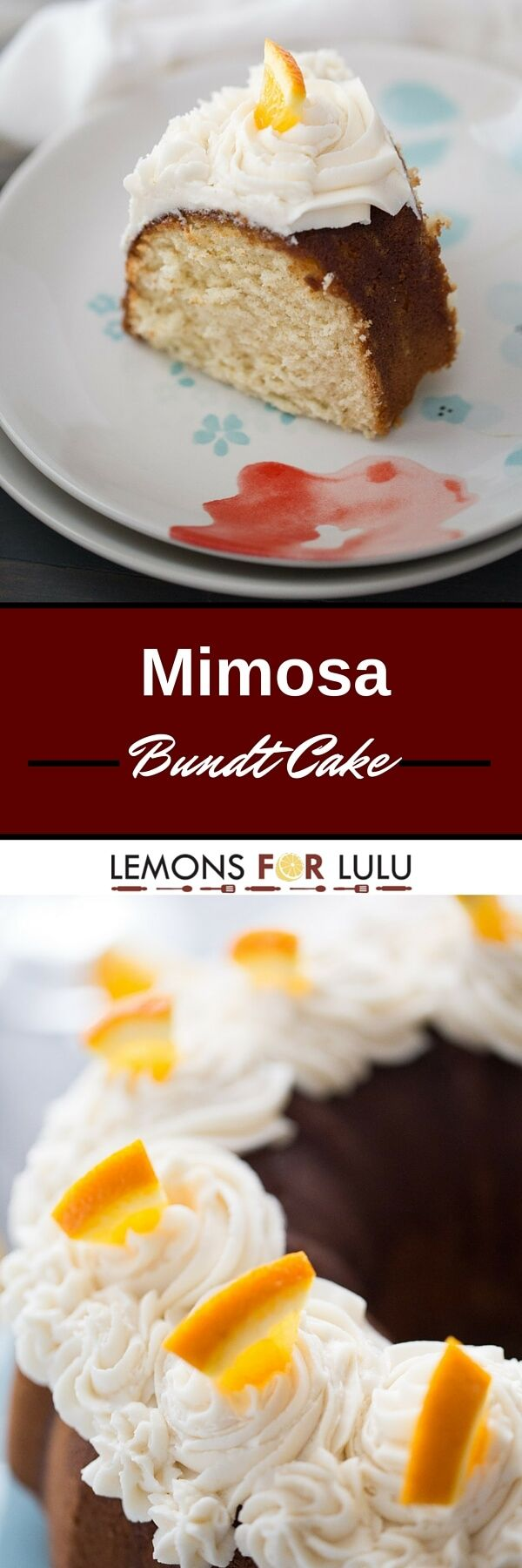 Love mimosas? Then this cake recipe is for you! This cake is made with both champagne and orange juice and topped with a creamy champagne buttercream!
