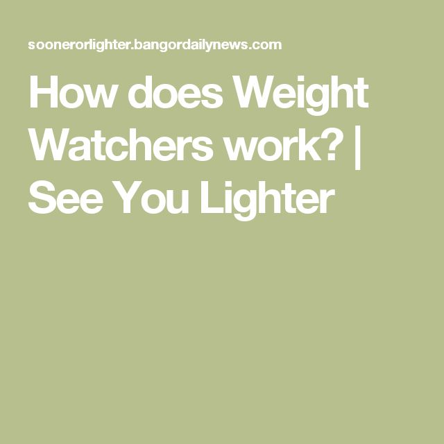 How does Weight Watchers work? | See You Lighter