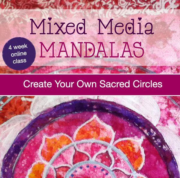 Mixed Media Mandalas online class | Louise Gale Mixed Media Color Artist & Classes