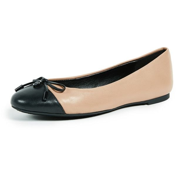 MICHAEL Michael Kors Melody Toe Cap Ballerinas ($70) ❤ liked on Polyvore featuring shoes, flats, toffee, ballet pumps, leather flats, pointed flat shoes, flat shoes and ballerina flats