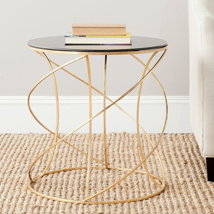 Tavolino da salotto Cagney - Color oro/Nero