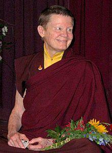 Pema Chödrön - (1936 - ) A disciple of Chögyam Trungpa Rinpoche, she is an ordained nun, author, and acharya, senior teacher in the Shambhala Buddhist lineage Trungpa founded.