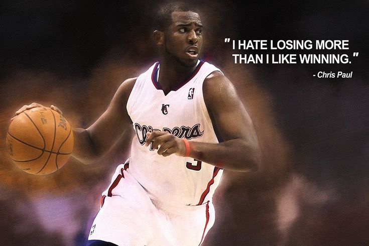 Chris Paul Quotes NBA Basketball Sayings Poster