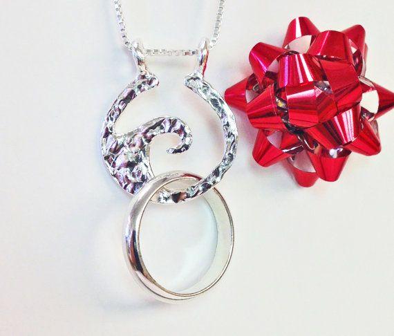 ring holder necklaces ring necklace holder necklace by alicart - Wedding Ring Necklace Holder