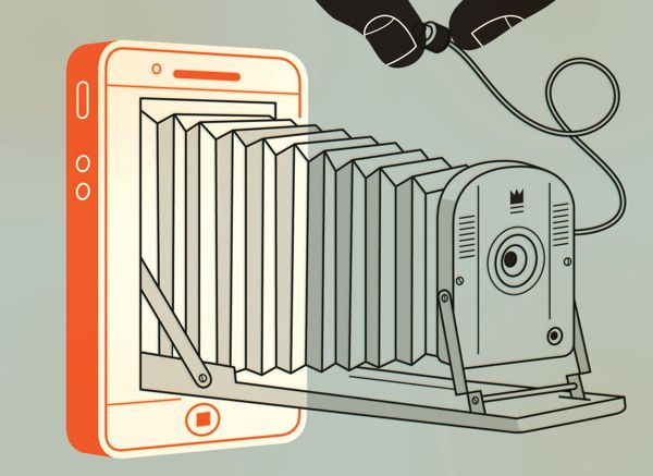 iPhone or old-school camera? // Digital Art by Harry Campbell