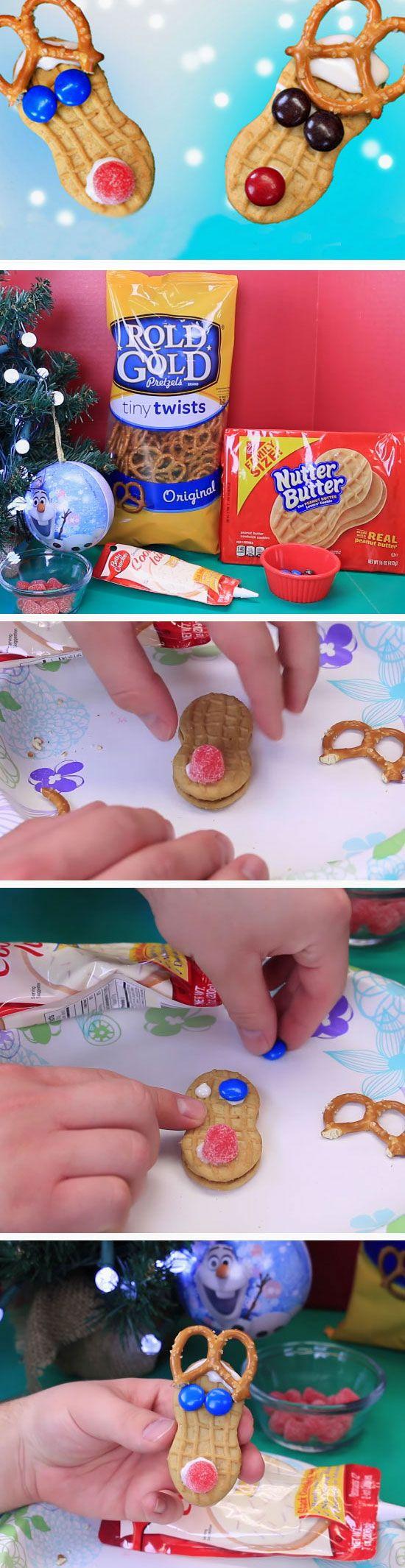Reindeer Cookies | 20+ DIY Christmas Crafts for Kids to Make