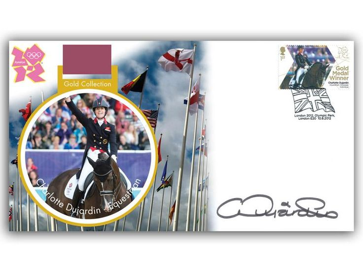 London 2012 Olympic Gold Medal Winners cover. Personally Autographed by Charlotte Dujardin. Equestrian - Dressage