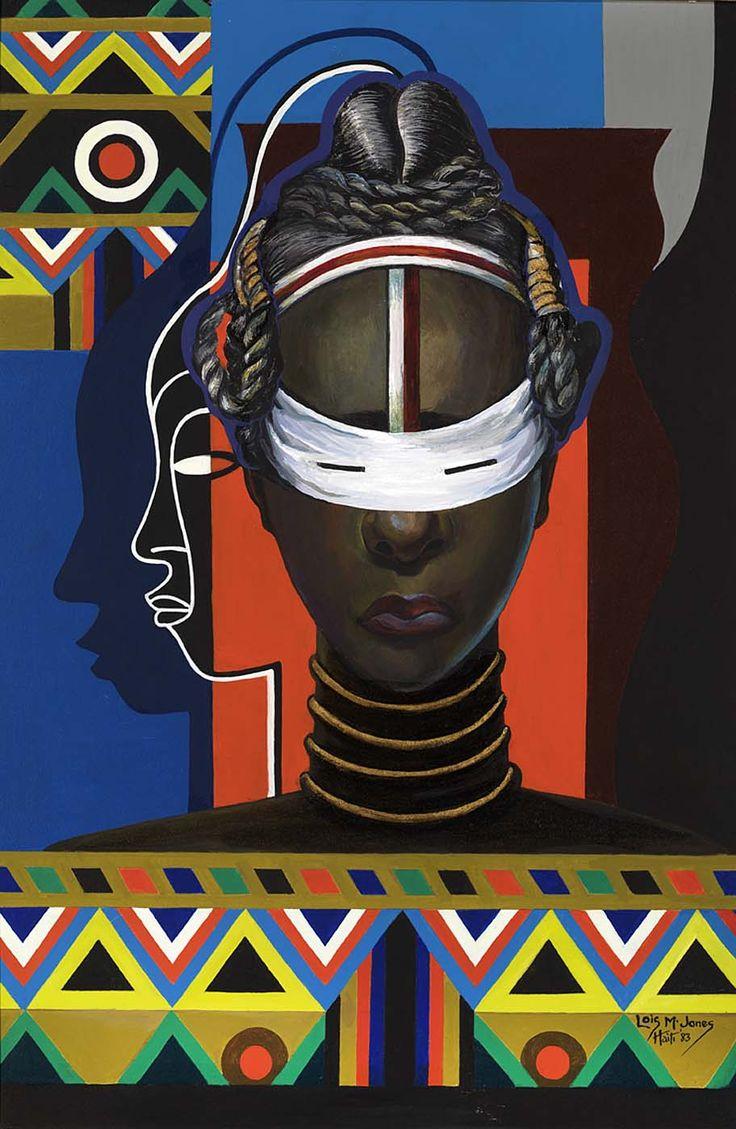 Initiation, Liberia by Loïs Mailou Jones (1983
