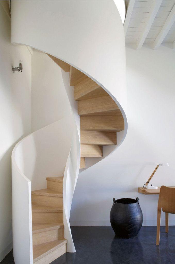 Spiral staircase at Château de la Resle