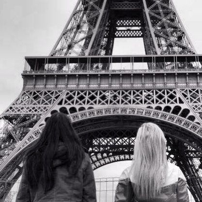 Best friends in Paris. @hippichic1 @Annalise Hunnicutt @BIZ This will be you guys one day. :) <3