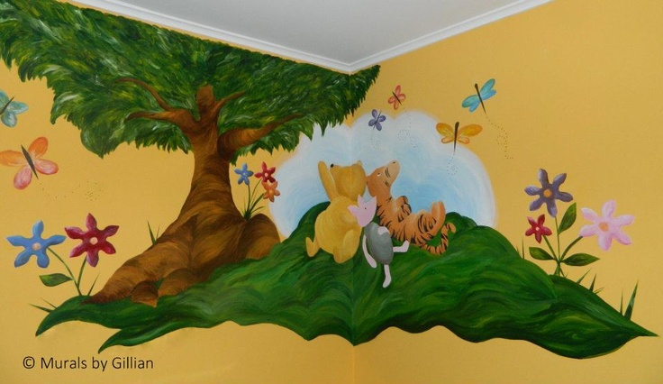 79 best images about murals custom art by gillian on for Classic pooh nursery mural