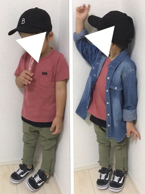 2017.10.8 身長95㎝ シャツ→110 Tシャツ→100 パンツ→90 久々にピンク男子登場