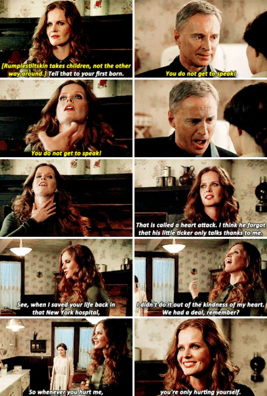 "Rumple, Zelena and Belle - 6 * 8 ""I'll be your mirror"""