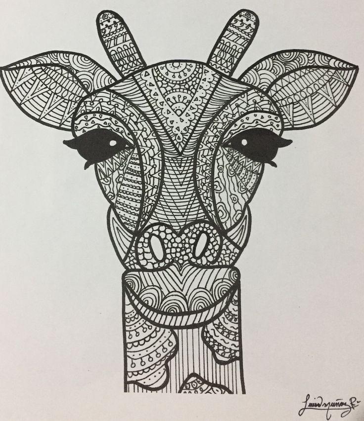 Black and white giraffe - Luisamr