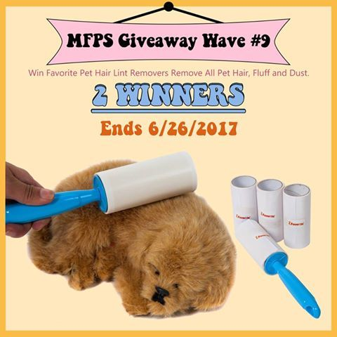 My Favorite Pet Shop #Giveaway #Wave #9! #contest #sweepstakes (End by 6/26/2017) Join us to Win #Favorite #Pet #Hair #Lint #Removers #Prize link: bit.ly/620MFPS 2 WINNERS!