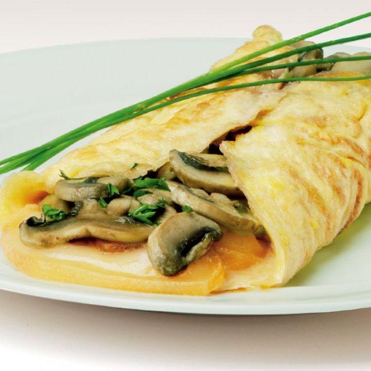Omelette au Oka et champignons