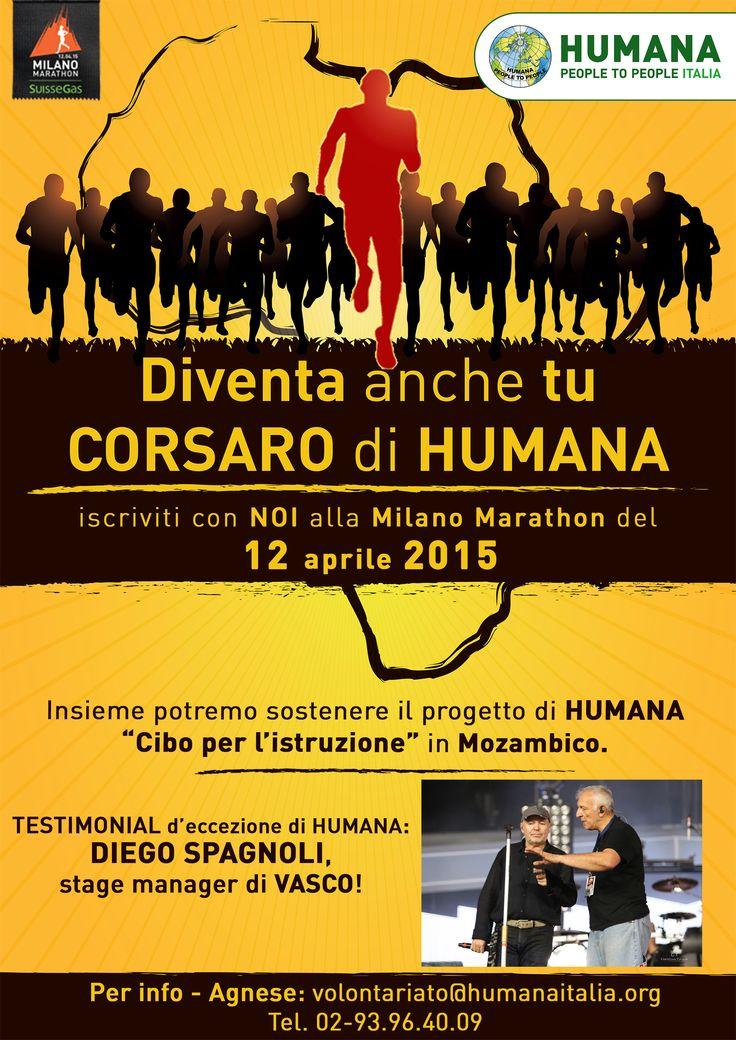 """Corri con HUMANA la #MilanoMarathon 2015: vinci la tua sfida solidale e sostieni il progetto """"Cibo per l'istruzione"""" in Mozambico!"""