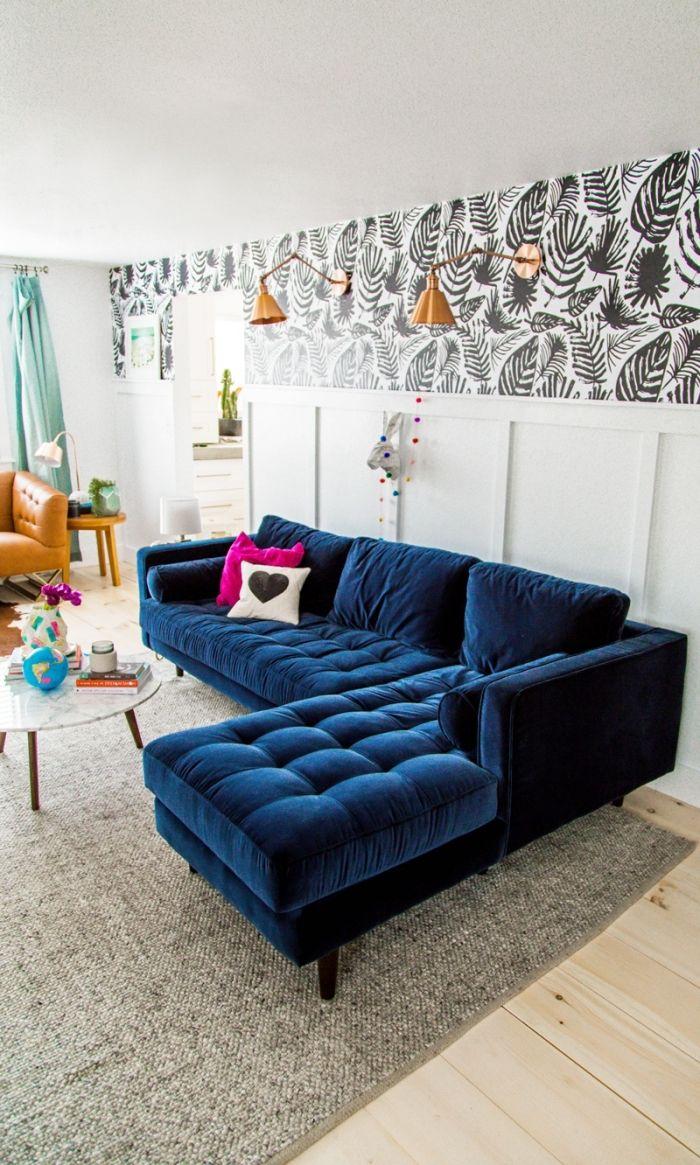 1001 Idees Deco Pour Transformer Son Interieur Avec Un Le De Papier Peint Salon Retro Appartement Salon Salon Maison