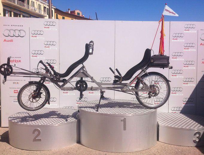 Liegerad Tandem TWOgether One in Portoferraio (ELBA)