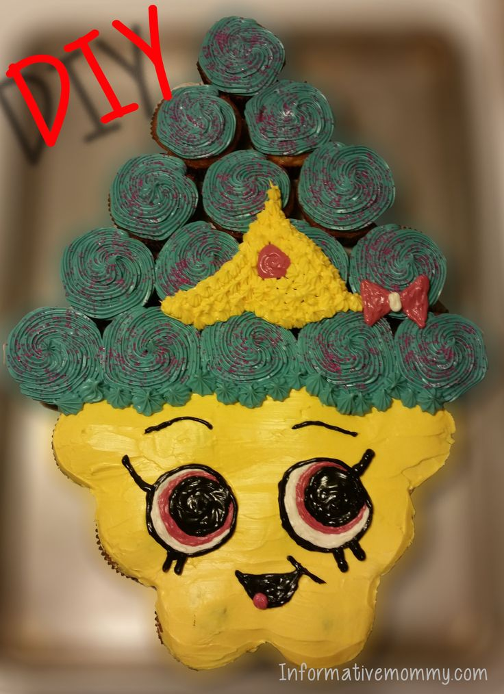 DIY Shopkins Cupcake Cake: Made Easy! Cupcake Queen. I have a step by step tutorial of how you can create one too! Hope you enjoy!