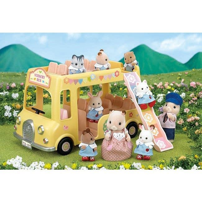 Sylvanian Families - Nursery Double Decker Bus #pintowin #entropywishlist I would love this, I always wanted the Sylvanian Family sets when I was little. This would be a childhood dream come true