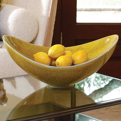 Citron Swoop Transitional Bowl