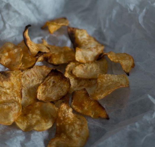 Dietetyczne chipsy z selera