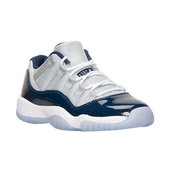 Boys' Grade School Air Jordan Retro 11 Low Basketball Shoes ❤ liked on  Polyvore featuring