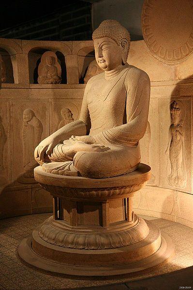 Seated Buddha, from the Seokguram, Silla, Gyeongju, North Gyeongsang province, South Korea (by Junho Jung)