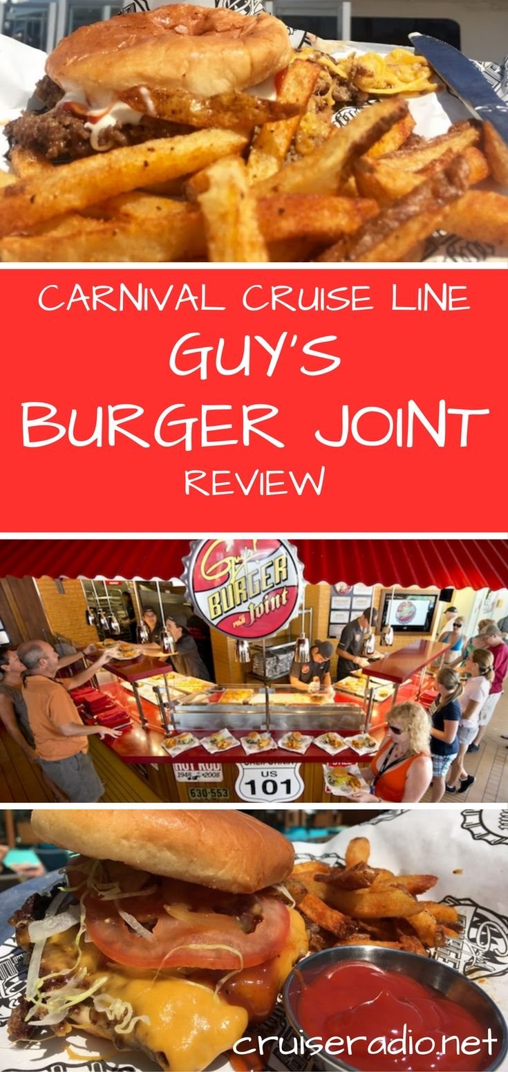 Found on many Carnival ships, Guy's Burger Joint is a quick-service venue that lets guests choose from five different types of burgers. Here's our review.