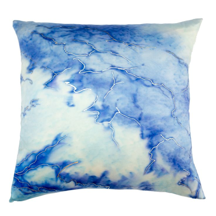 Buy Marie Burgos Design Silk Glacier 2 Pillow  by Marie Burgos Design - Made-to-Order designer Accessories from Dering Hall's collection of Contemporary Pillows.