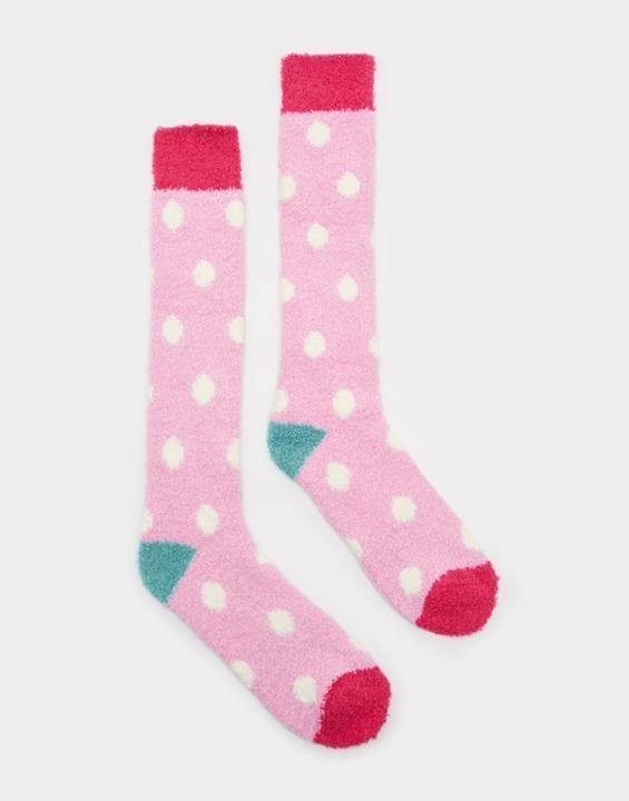 Fab fluffy Cream Socks , Size One Size | Joules UK