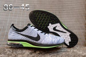 154b7f364ef87 Mens Womens Nike Air Zoom Mariah Flyknit Racer Grey Green Black Running  Shoes