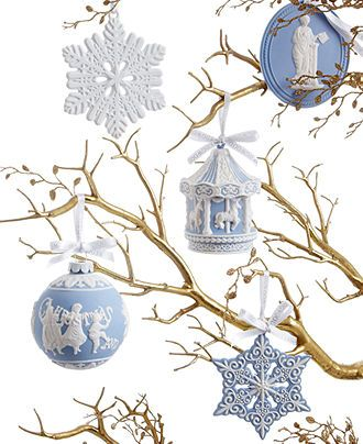 Wedgwood Christmas Ornament Collection - All Christmas Ornaments - Holiday Lane - Macy's: