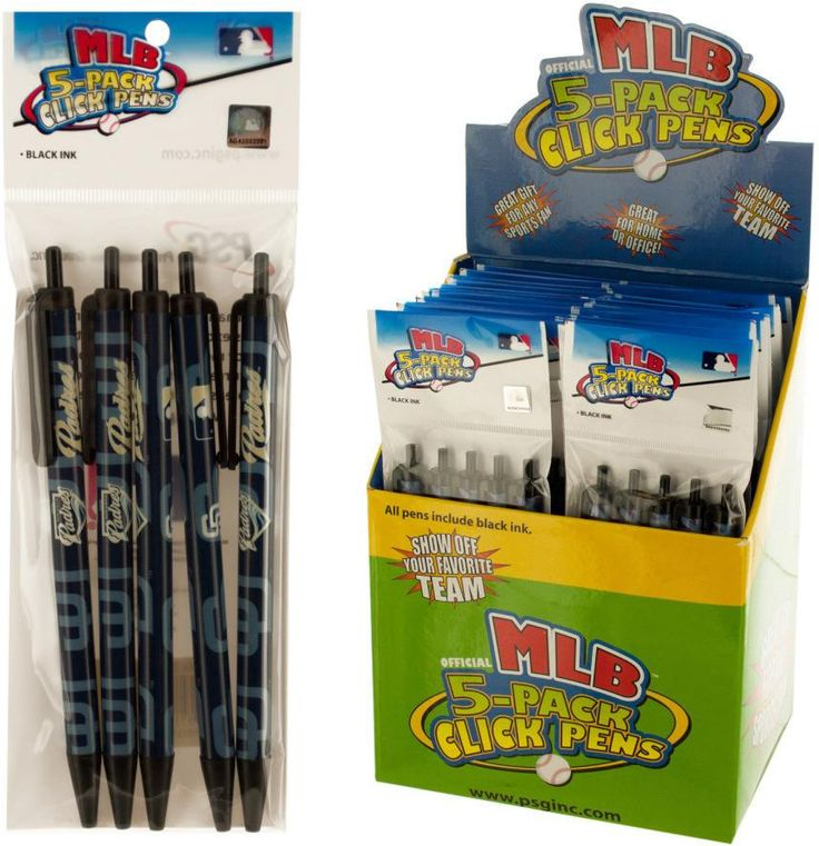 San Diego Padres MLB Licensed Click Pens Counterto - 24 Units
