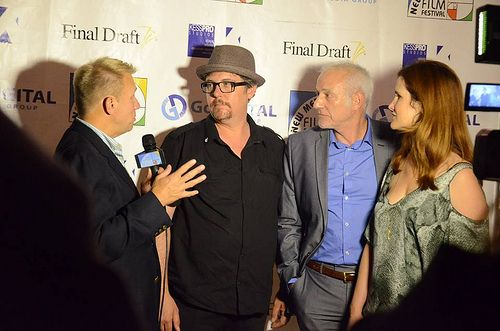 On the Red Carpet w Host Harrison. Elegy for a Revolutionary Producers. Pic-FJPhotography