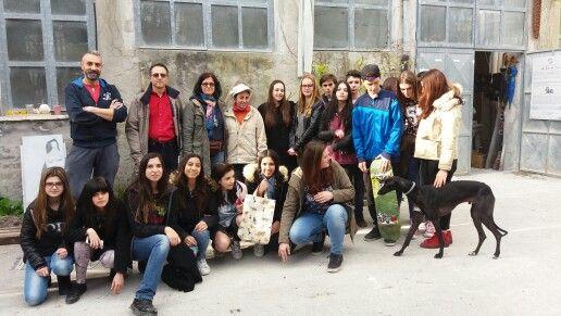 """Visita al Laboratorio d'arte  """"La Polveriera"""", classe 1A a.s.2015/16 Liceo artistico Stagi Pietrasanta. Con gli artisti Veronica Fonzo e Sebastiano Leta. :)"""