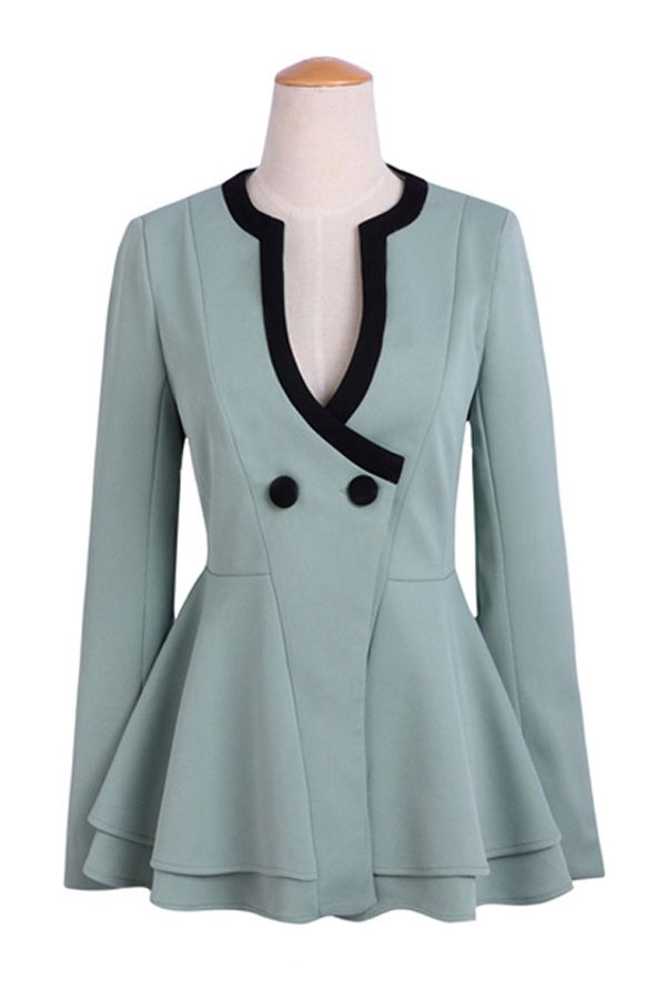 Powder Blue peplum blazer