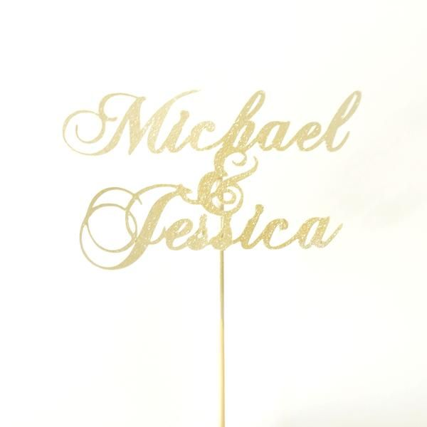 This beautiful custom personalized cake topper is the perfect unique way to decorate your anniversary, valentine's or wedding cake for your special day. Written