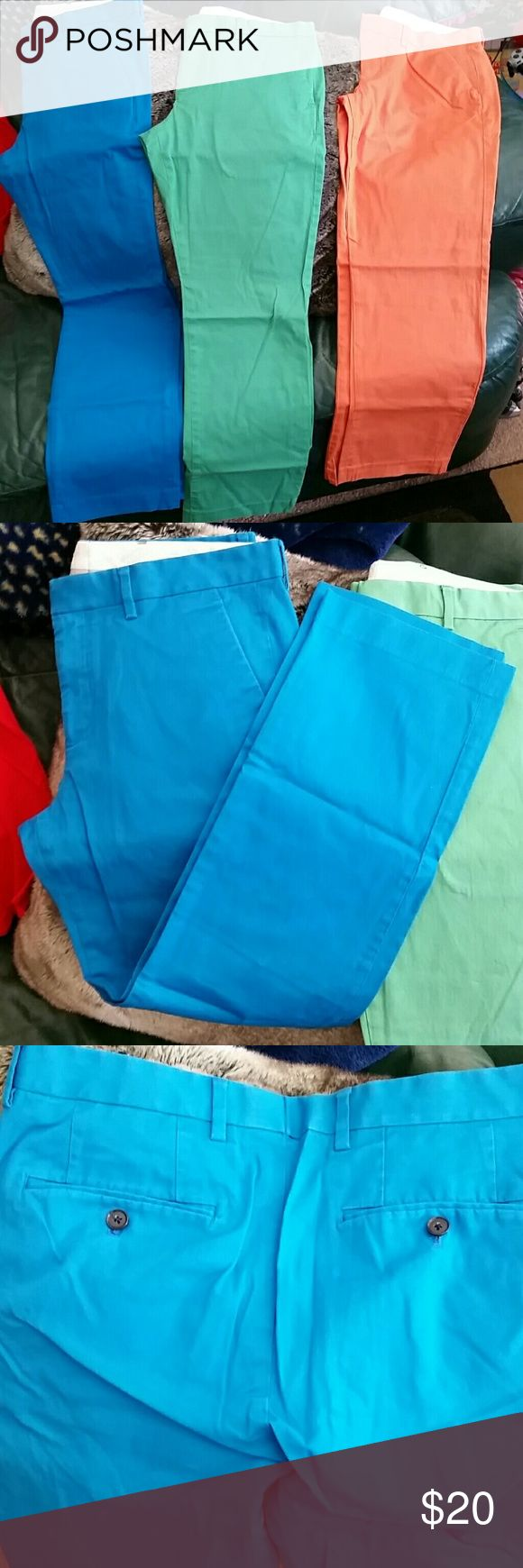 Express Photographer bright blue pants 32x30 Great condition size 32x30 Express Pants Chinos & Khakis