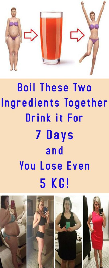 Boil These Two Ingredients Together – Drink it For 7 Days and You Lose Even 5 KG! -